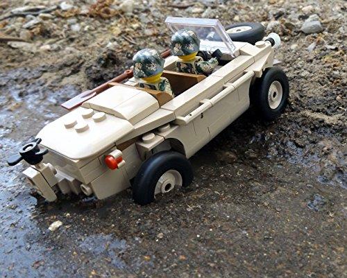 Modbrix 2188 – ☠ Bausteine VW Typ 166 Schwimmwagen XX Divison inkl. Custom Elite Wehrmacht Soldaten aus Lego© Teilen ☠ - 5
