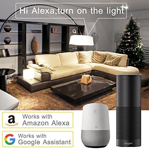 WiFi Smart Birne, LOFTer bunte Wlan Birne (7W E27 RGB) Steuerbar via APP Wlan Mehrfarbige wlan Lampe Dimmbare kompatibel mit Amazon Alexa und Google Home