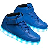 Hopscotch Blue High Top Sneakers