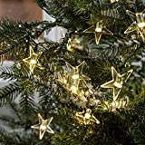 Lights4fun 100er LED Sternen Lichterkette Tannenbaum Batteriebetrieb Außen