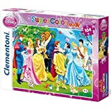 Clementoni 23656.5 - Maxi Puzzle Prinzessin - Prinzessin hört auf ihr Herz, 104 Teile