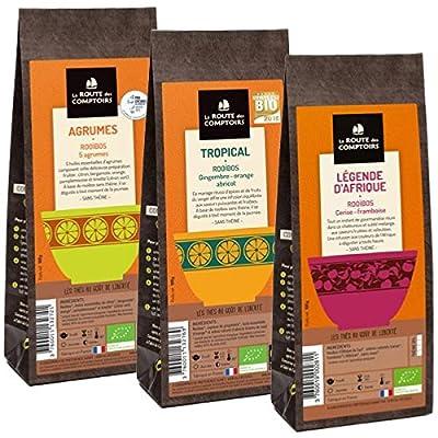 Pack Éco Rooibos Bio aromatisés - 3 x 100g