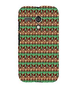 Fiobs Designer Back Case Cover for Motorola Moto G :: Motorola Moto G (1st Gen) :: Motorola Moto G Dual (Multicolor Line Ethnic Design)
