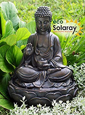 Solaray Water Feature Solar Powered Buddha OGD152