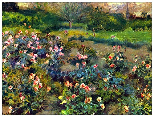 ArtPlaza TW92793 Renoir Pierre-Auguste - Rose grove Dekorative Paneele Holz MDF Multifarbiert 120x90 Cm - Pierre Auguste Renoir, Roses