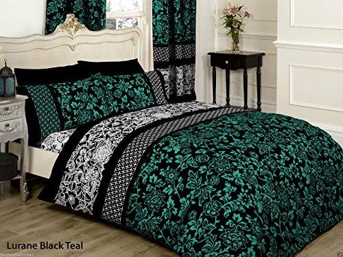 Perkal-doppel-duvet-set (Pure 100% Baumwolle Doppel Bettbezug, bedruckt Set mit Kissen Fall (S), Perkal Tech)