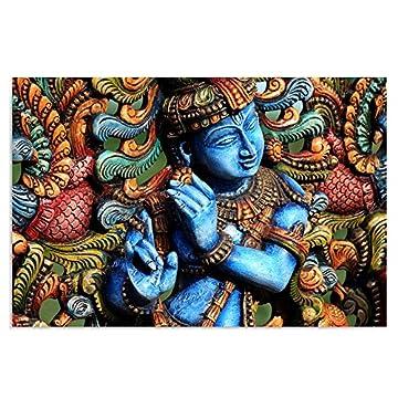 Feeby Frames, Cuadro en lienzo, Cuadro impresión, Cuadro decoración, Canvas de una pieza, ESTATUA BUDA, ZEN, INDIA, ORIENTE, MULTICOLOR 4