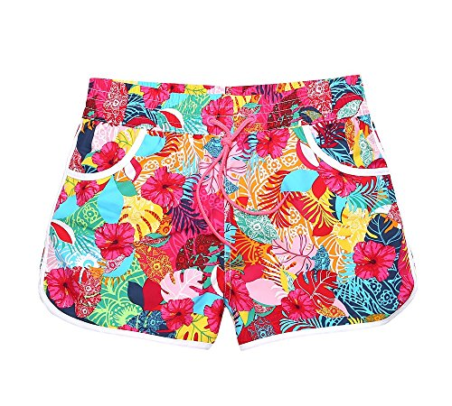 lantra-besa-womens-beach-shorts-boardshorts-mini-short-trunks-for-water-sports-in-summer-red-flowers