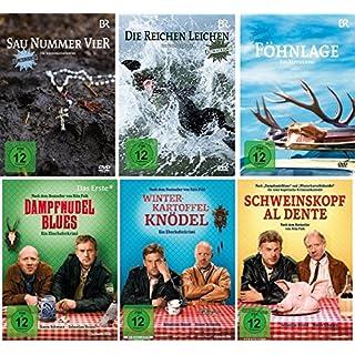Heimatkrimi - Bayern - 6 DVD Set: Sau Nummer vier, Die reichen Leichen, Föhnlage, Dampfnudelblues, Winterkartoffelknödel, Schweinskopf al dente - Deutsche Originalware [6 DVDs]