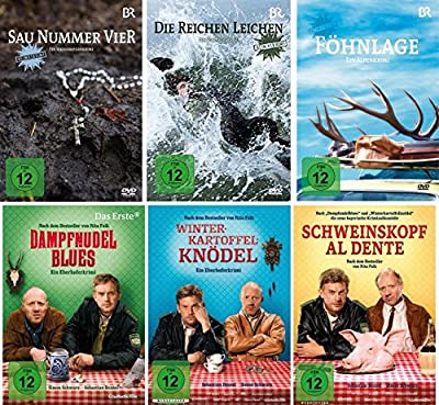 Heimatkrimi - Bayern - 6 DVD Set: Sau Nummer vier, Die reichen Leichen, Föhnlage, Dampfnudelblues, Winterkartoffelknödel, Schwe