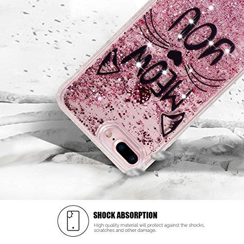 Cover iPhone 7 Plus Spiritsun iPhone Custodia TPU Moda Elegante Case Cover Soft Silicone Back Cover Protezione Bumper Funzione Shell Morbida Flessible TPU Bling Bling Cover Per iPhone 7 Plus (5.5 Poll Gatto 1
