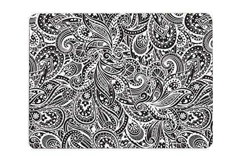 Paisley Platzsets, 4 Stück, schwarz