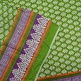 Blumenmuster Stoff Green Cotton Popeline-Kleid Vorhänge Kissen Indien Nähen Stoff von 1 Yard