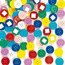 Baker Ross Botones autoadhesivos (Paquete de 200) Para decorar arte y manualidades infantiles