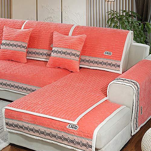 Trapuntato copridivani, inverno addensare caldo tinta unita mobili morsetto soldi una fodera del divano traspiranti soft-venduti a pezzo-rosso 28x28inch