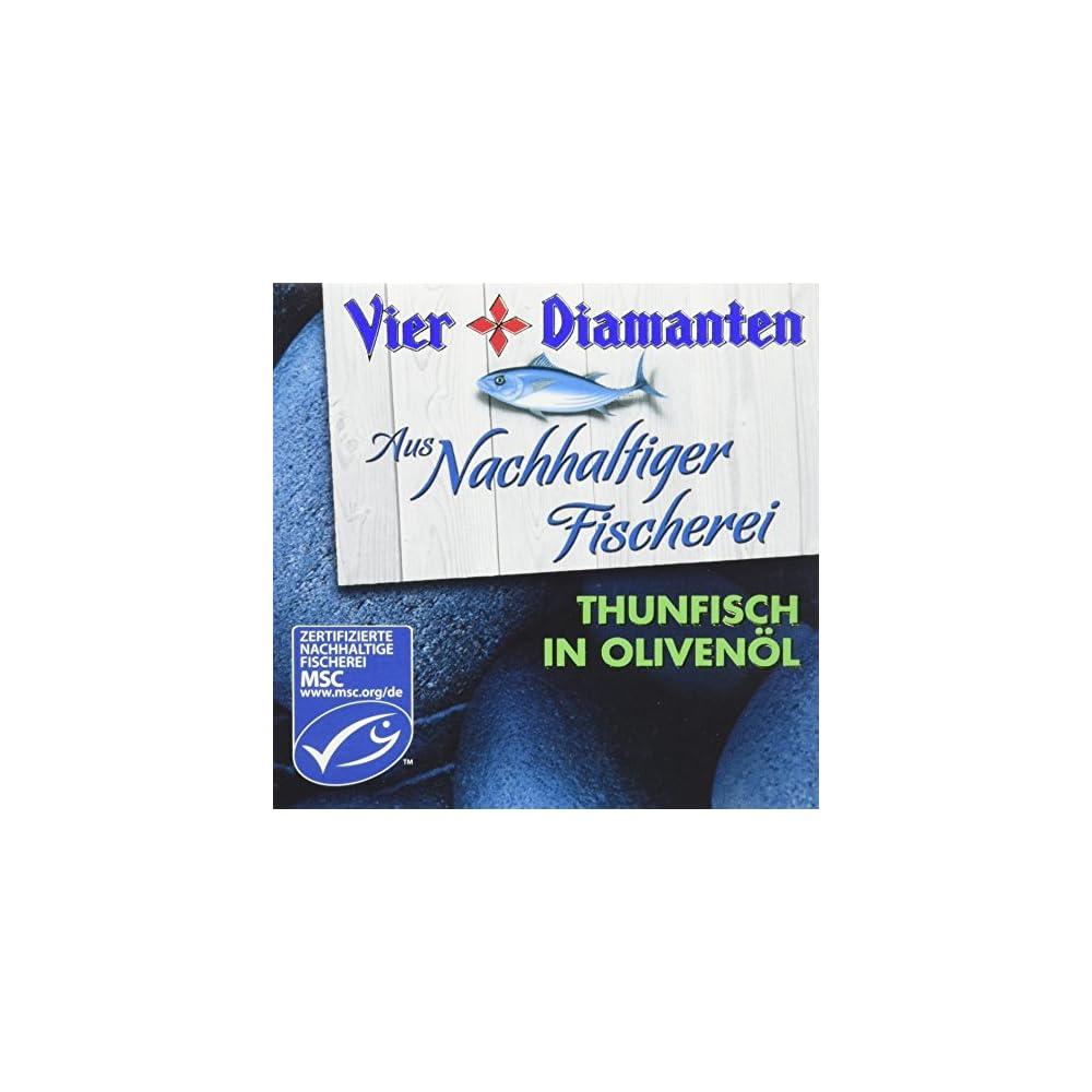 Vier Diamanten Thunfisch Filets Olivenl Msc 160 G 8er Pack 8 X 160 G