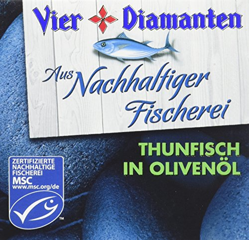 Vier Diamanten Thunfisch Filets Olivenöl MSC 160 g, 8er Pack (8 x 160 g)