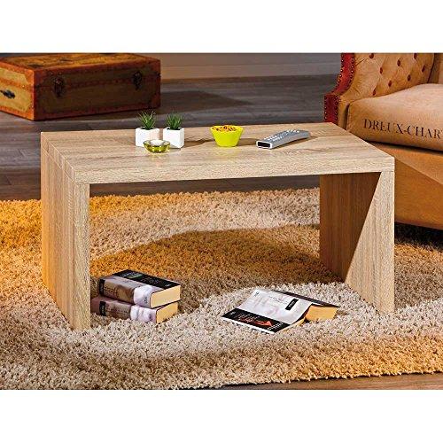 Eiche Traditionellen Sofa-tisch (Wohnzimmertisch in Eiche Sonoma 90 cm Pharao24)