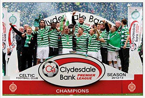 Empire Fußball Poster Celtics–Champions 12/13+ Zusatzartikel Kunststoff-Rahmen weiss (Champions-rahmen)