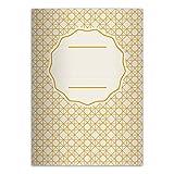 16 schöne DIN A5 Schulhefte, Notizhefte im Retro Look, gelb Lineatur 6 (blanko Heft)