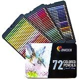72 Matite Colorate (Numerato) con Scatola in Metallo - Regalo Ideale per Artisti