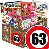 Geburtstags Geschenk Papa ++ Suessigkeiten Korb ++ Ostalgie Set ++ Zahl 63