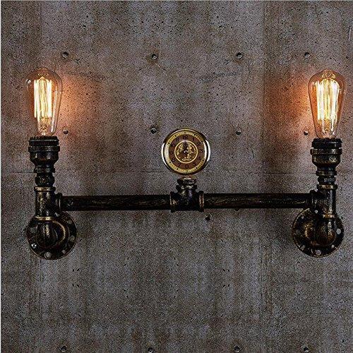 VanMe Nordic Stile Loft Doppia Tubazione Acqua Lampada Parete Edison Applique Parete Antichi Punti Luce Per Interni Vintage Di Illuminazione Industriale