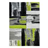 CC Hochwertiger Modern Designer Teppich Flachflor Modernes Design Swing Grün Grau, Größe in cm:160 x 230 cm
