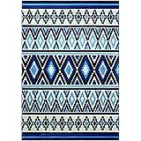 wecon Home Alfombra Happy Kelim WH de 0653–01, azul, 200 x 290 cm