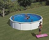 Gartenwelt Riegelsberger Pool-Set Feeling rund 460x120 cm weiß