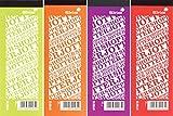 Silvine Slimline Shopping List Jotter Pads Pack of 4