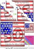 Abatible el pabellón de los Estados Unidos el 30º cumpleaños de una ola de ángulo lateral stacker por Carol Clarke