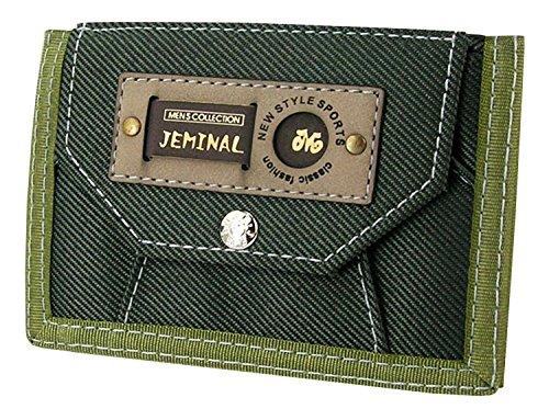 qishi-yuhua-jml-mens-korean-short-paragraph-3-fold-canvas-purse-army-green-canvas-wallets