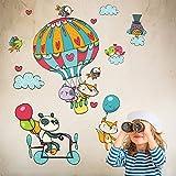 kina R00328 Stickers muraux pour Enfants imprimé sur papiers Peints - Voyage en Ballon
