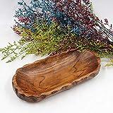 Clearsky Grande Piatto in Legno a Forma di Dado Rettangolare Piatto da Colazione a Base di Frutta, Piatto da tè, Piatto da Dessert