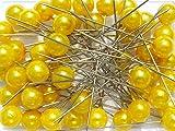 Perlen-Nadeln Deko-Nadeln Perle GELB 10mm 50 Stück ACHTUNG! KEINE STECKNADELN
