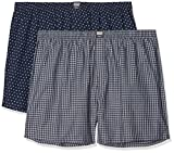 s.Oliver Big Size Herren Boxershorts 26.899.97.4244, Blau (Small Blue Check and AOP 11c7), XXXXX-Large