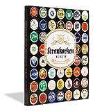 Leuchtturm Kronkorkenalbum PRESSO für 64 Kronkorken | Einpress-Sammelalbum mit Schaumstoff-Polstern zur Aufbewahrung Ihrer Kronkorken