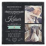 Personello Schiefer (Deko) mit Foto & Text personalisiert (30x30), Schieferplatte für Hochzeitsfoto, Geschenk für Paare