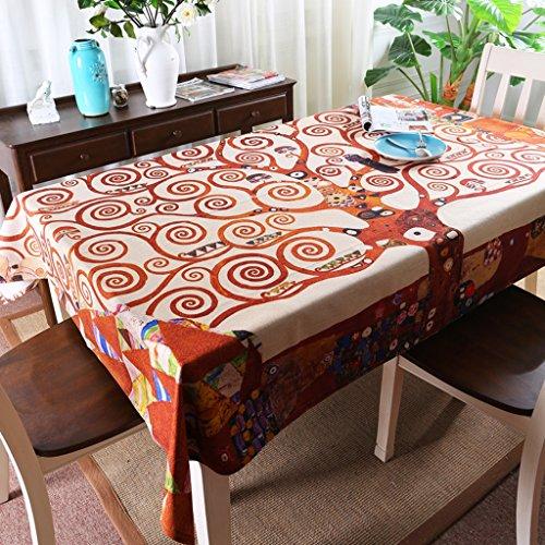 WOFULL Südost Happy Tree Baum des Lebens Kaffee Tischtuch Tischabdeckung Stoffpolsterung Sofabezug Tuch Fernsehen ( größe : 100*145 )