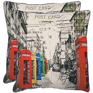 London coussin décorative en coton-Taille :  20 x 20 cm