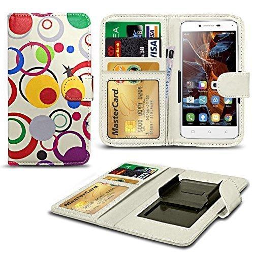 N4U ONLINE Verschiedene Muster Clip On Serie PU- Leder Brieftasche Buch Hülle für Apple iPhone 3G - Kreis (2524 Series)