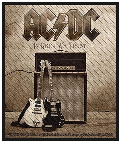 AC/DC-Patch Toppa-in Rock We Trust 8x 10cm