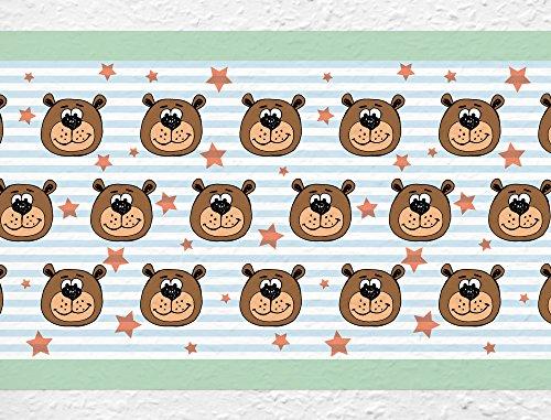 I-love-Wandtattoo b-02-011 Kinderzimmer Bordüre 'Bär' Waldtiere Kinderdeko
