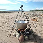 HomeZone® Portable Camping Tripod Set | Cooking, Drying Clothes, Pot Roast, Dutch Oven | Outdoor Picnic Camping BBQ… 6