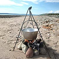 HomeZone® Portable Camping Tripod Set | Cooking, Drying Clothes, Pot Roast, Dutch Oven | Outdoor Picnic Camping BBQ Cooking Hanger | Hanging Raised BBQ 15