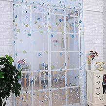 fastar cortinas infantiles estrella linda impresin translcida de la cortina para la habitacin de los