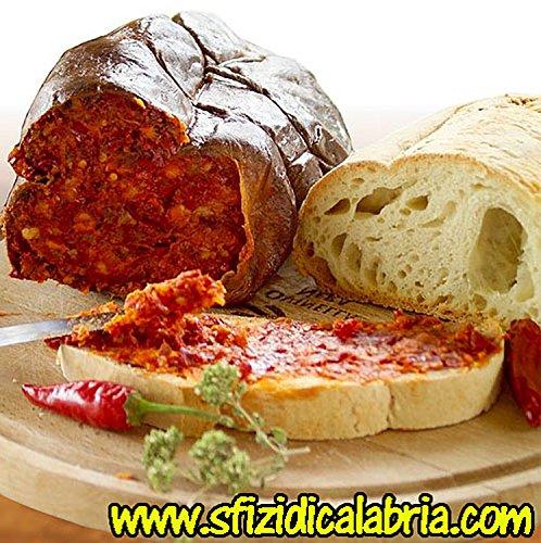 Nduja Calabrese Spicy Spreadable Sausage Original Salami from Calabria Italy 450gr Calabrian Paste Typical Italian Salami by Sfizi di Calabria