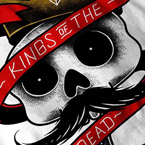 König Von Das Tot USA Böse Damen Schwarz S-2XL Muskelshirt   Wellcoda Weiß
