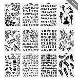 Forepin Bullet-Journal Schablone Set DIY Zeichnungsvorlage Herrscher, Malerei Schablone für Journaling Scrapbooking Karte und Kunstprojekte (12 Stk)